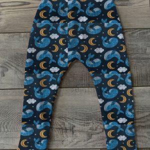 whale leggings handmade